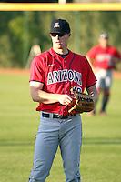 TJ Steele - University of Arizona Wildcats - 2008.  Photo By Bill Mitchell / Four Seam Images