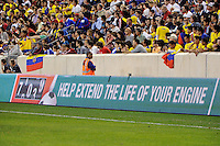 The men's national team of the United States (USA) was defeated by Ecuador (ECU) 1-0 during an international friendly at Red Bull Arena in Harrison, NJ, on October 11, 2011.