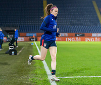 BREDA, NETHERLANDS - NOVEMBER 27: Rose Lavelle #16 of the USWNT steps onto the field before a game between Netherlands and USWNT at Rat Verlegh Stadion on November 27, 2020 in Breda, Netherlands.