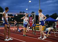 5th June 2021; Birmingham University Athletics Track, Birmingham, Midlands, England; European 10000 Metre Finals, British Olympic Trials 10000 Metre; Marc Scott celebrates post race after beating Mo Farah