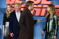 "Sylvia Hoeks, Harrison Ford, Ryan Gosling and Ana De Armas<br /> at the ""Blade Runner 2049"" photocall, Corinthia Hotel, London<br /> <br /> <br /> ©Ash Knotek  D3312  21/09/2017"