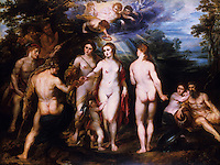 Peter Paul Rubens 1577-1640. The Judgment of Paris. National Gallery, London.  Reference only.