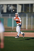 Jared Boulden (5) of Newman Smith High School in Carrollton, Texas during the Baseball Factory All-America Pre-Season Tournament, powered by Under Armour, on January 13, 2018 at Sloan Park Complex in Mesa, Arizona.  (Mike Janes/Four Seam Images)