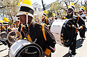 A high school marching band from Indiana fills in for New Orleans high school bands which are missing from Mardi Gras this year in New Orleans, Monday, February 25, 2006.<br /> (AP Photo/Cheryl Gerber)