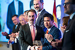 """Vinicius Jorge Carneiro and Genciano Pedriel Jare  attends XXXIV International prizes of journalism """"Rey de Espana"""" and the XIII edition of the prize """"Don Quijote"""" of journalism in Madrid, Spain. March 27, 2017. (ALTERPHOTOS / Rodrigo Jimenez)"""