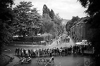 Team Lotto-Soudal leading the peloton up the Wijnpersstraat<br /> <br /> 50th GP Jef Scherens 2016