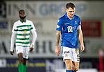 St Johnstone v Celtic…..29.01.20   McDiarmid Park   SPFL<br />Captain Jason Kerr trudges off the pitch<br />Picture by Graeme Hart.<br />Copyright Perthshire Picture Agency<br />Tel: 01738 623350  Mobile: 07990 594431