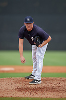 New York Yankees Kyle Zurak (24) during a Minor League Spring Training game against the Atlanta Braves on March 12, 2019 at New York Yankees Minor League Complex in Tampa, Florida.  (Mike Janes/Four Seam Images)