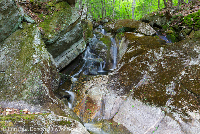 Small cascade on a tributary of Lost River in Kinsman Notch in North Woodstock, New Hampshire during the spring months.