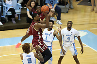 CHAPEL HILL, NC - FEBRUARY 1: Jairus Hamilton #1 of Boston College takes a jump shot during a game between Boston College and North Carolina at Dean E. Smith Center on February 1, 2020 in Chapel Hill, North Carolina.