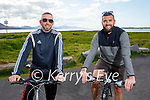 Enjoying a cycle in Lohercannan on Tuesday, l to r: Brendan Smith and David O'Connor.