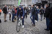 former winner in Liège Daniel Martin (IRL/Etixx-Quickstep) coming back from sign-in<br /> <br /> 102nd Liège-Bastogne-Liège 2016