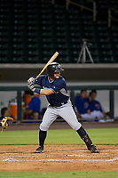 AZL Padres designated hitter Nick Feight (17) at bat against the AZL Cubs on August 28, 2017 at Sloan Park in Mesa, Arizona. AZL Cubs defeated the AZL Padres 2 9-4. (Zachary Lucy/Four Seam Images)