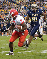 October 25, 2008: Rutgers tight end Shamar Graves (3) . The Rutgers Scarlet Knights defeated the Pitt Panthers 54-34 on October 25, 2008 at Heinz Field, Pittsburgh, Pennsylvania.