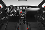 Stock photo of a straight dashboard view of a 2017 Ford Mustang GT Premium 2 Door Coupe