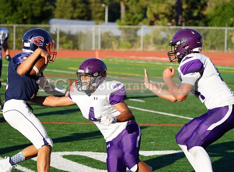 Amador Valley High School Freshman Football at Campolindo Thursday  Sept. 5, 2019. (Photo by Alan Greth/AGP Sports)