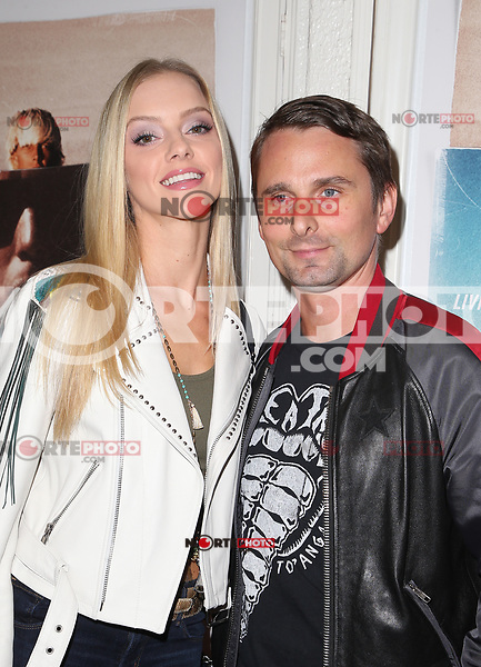 SANTA MONICA, CA - NOVEMBER 1: Elle Evans, Matt Bellamy, at the Los Angeles Premiere of documentary Bunker77 at the Aero Theater in Santa Monica, California on November 1, 2017. Credit: Faye Sadou/MediaPunch /NortePhoto.com