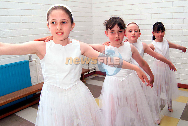 Ciara Phillips, Emer Kiernan, Kate Murray and Caroline Dillon who took part in the Katherine Martin School of Ballet end of year show in Laytown National School..Picture: Paul Mohan/Newsfile