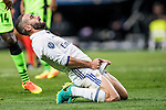 Daniel Carvajal Ramos of Real Madrid reacts during their 2016-17 UEFA Champions League match between Real Madrid vs Sporting Portugal at the Santiago Bernabeu Stadium on 14 September 2016 in Madrid, Spain. Photo by Diego Gonzalez Souto / Power Sport Images