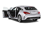 Car images close up view of a 2015 Mercedes Benz CLA Class 220 AMG line 5 Door Wagon doors