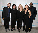 "Al Blackstone, Jenn Rose, Kitty McNammee, Katie Spelman and Raja Kelly during The ""Mr. Abbott"" Award 2019 at The Metropolitan Club on 3/25/2019 in New York City."