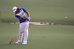 Johan Edfors plays his 3rd shot on the 18th hole during  Day 2 at the Dubai World Championship Golf in Jumeirah, Earth Course, Golf Estates, Dubai  UAE, 20th November 2009 (Photo by Eoin Clarke/GOLFFILE)