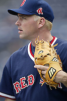 John Burkett of the Boston Red Sox before a 2002 MLB season game against the San Diego Padres at Qualcomm Stadium, in San Diego, California. (Larry Goren/Four Seam Images)