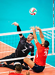 Lima, Peru -  25/August/2019 -   Doug Learoyd (#7) in action as Canada takes on Costa Rica in men's sitting volleyball at the Parapan Am Games in Lima, Peru. Photo: Dave Holland/Canadian Paralympic Committee.