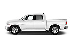 Car Driver side profile view of a 2016 Ram 1500 Laramie-Limited-Crew 4 Door Pickup Side View
