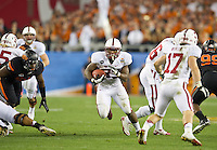 STANFORD, CA - January 2, 2012: Stanford running back Stepfan Taylor (33) against Oklahoma State at the Fiesta Bowl at University of Phoenix Stadium in Phoenix, AZ. Final score Oklahoma State wins 41-38.