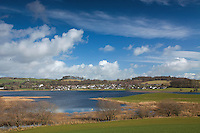 Looking across the River Dee to Crossmichael from Balmalghie, Dumfries and Galloway