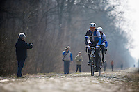 Paris-Roubaix 2013 RECON at Bois de Wallers-Arenberg..Lars Boom (NLD)