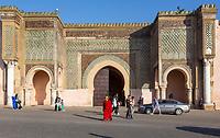 Meknes, Morocco.   Bab Mansour, built 1672-1732.