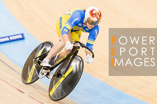 Liubov Basova of the Ukraine team competes in the Women's Sprint - Qualifying as part of the 2017 UCI Track Cycling World Championships on 13 April 2017, in Hong Kong Velodrome, Hong Kong, China. Photo by Chris Wong / Power Sport Images