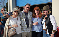 L-R: Joan, Paul, Yvonne Dale with June Becton