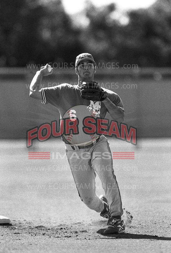 Eric Chavez of Mount Carmel High School at Mount Carmel H.S. in San Diego,California during the 1996 season. (Larry Goren/Four Seam Images)