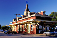 train station, New Hampshire, Wolfeboro, NH, Wolfeboro Train Station in the town of Wolfeboro one of the oldest summer resorts in America on Lake Winnipesaukee.