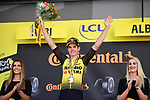Wout Van Aert (BEL) Team Jumbo-Visma wins Stage 10 of the 2019 Tour de France running 217.5km from Saint-Flour to Albi, France. 15th July 2019.<br /> Picture: ASO/Pauline Ballet | Cyclefile<br /> All photos usage must carry mandatory copyright credit (© Cyclefile | ASO/Pauline Ballet)