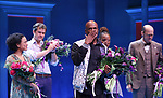 Lauren Ridloff, Joshua Jackson, Kecia Lewis, Anthony Edwards and Kenny Leon during the Broadway opening night performance Curtain Call for 'Children of a Lesser God' at Studio 54 Theatre on April 11, 2018 in New York City.