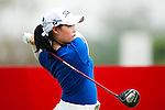 CHON BURI, THAILAND - FEBRUARY 17:  Moriya Jutanugarn of Thailand tees off on the 11th hole during day two of the LPGA Thailand at Siam Country Club on February 17, 2012 in Chon Buri, Thailand.  Photo by Victor Fraile / The Power of Sport Images