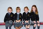 Making new friends in Gaelscoil Aogain on Monday were Grace Ní Bhruadair, Mya Nic Raghnaill, Sadie Ní Dhomhnaill and Nicole Ní Mhuircheartaigh,
