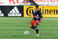 FOXBOROUGH, MA - OCTOBER 3: Brandon Bye #15 of New England Revolution controls the ball during a game between Nashville SC and New England Revolution at Gillette Stadium on October 3, 2020 in Foxborough, Massachusetts.