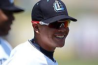 Lake County Captains third baseman Giovanny Urshela #32 before a double header against the West Michigan Whitecaps at Classic Park on May 30, 2011 in Eastlake, Ohio.  West Michigan defeated Lake County 5-0.  Photo By Mike Janes/Four Seam Images
