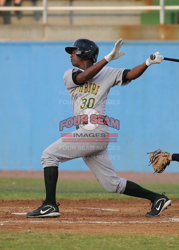 July 16, 2009: Outfielder Ciro Rosero (30) of the Lynchburg Hillcats, Carolina League affiliate of the Pittsburgh Pirates, in a game at G. Richard Pfitzner Stadium in Woodbridge, Va. Photo by: Tom Priddy/Four Seam Images