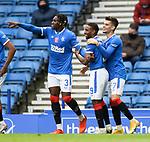 25.10.2020 Rangers v Livingston: Jermain Defoe celebrates his goal