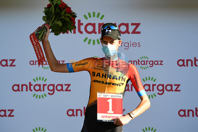 Wouter Poels (NED) Bahrain McLaren wins the day's combativity prize at the end of Stage 5 of Tour de France 2020, running 183km from Gap to Privas, France. 2nd September 2020.<br /> Picture: ASO/Alex Broadway | Cyclefile<br /> All photos usage must carry mandatory copyright credit (© Cyclefile | ASO/Alex Broadway)