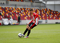 6th September 2020; Brentford Community Stadium, London, England; English Football League Cup, Carabao Cup, Football, Brentford FC versus Wycombe Wanderers; Sergi Canos of Brentford takes a penalty