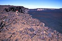 Hiking Mauna Loa ( long mountain ) the earths largest volcano on the Big Island of Hawaii