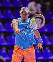 Rotterdam, Netherlands, December 15, 2017, Topsportcentrum, Ned. Loterij NK Tennis, Boy Westerhof (NED)<br /> Photo: Tennisimages/Henk Koster