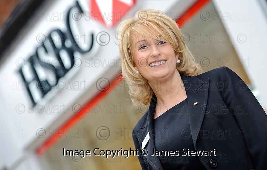 HSBC Falkirk Branch Manager, Fiona Dawson.